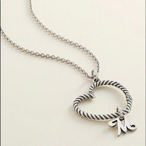 NIB James Avery Heart Charm Necklace